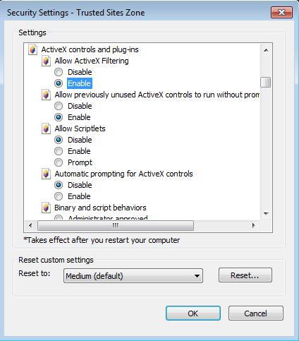 Install Genius Integrator ActiveX on Internet Explorer